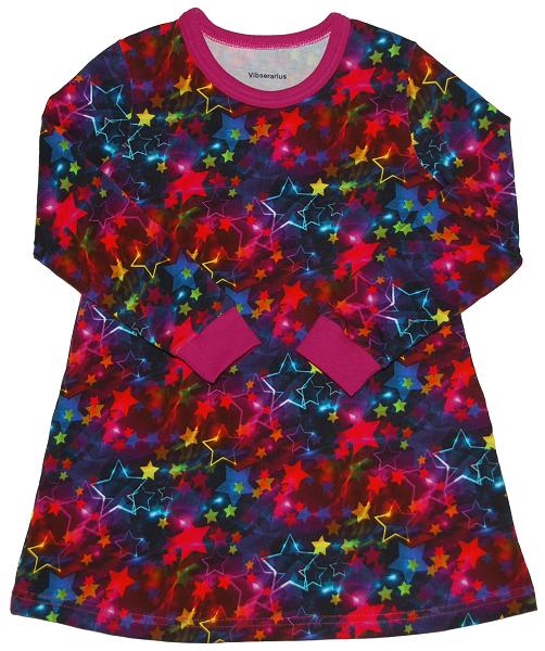 ef9b37ead84 Kjole med neonstjerner - str. 104